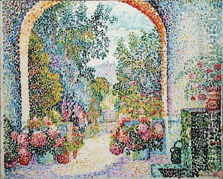 Garden at La Hune, Saint-Tropez, 1909 by Jeanne Semersheim-Desgranges - Reproduction Oil Painting