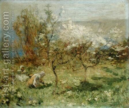 Apple Blossoms by Mark Senior - Reproduction Oil Painting