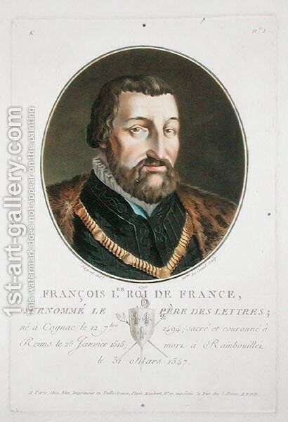 Francois I 1494-1547 King of France, 1790 by Antoine Louis Francois Sergent-Marceau - Reproduction Oil Painting