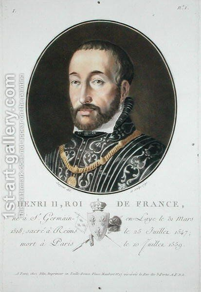 Henry II 1519-59 King of France, 1790 by Antoine Louis Francois Sergent-Marceau - Reproduction Oil Painting