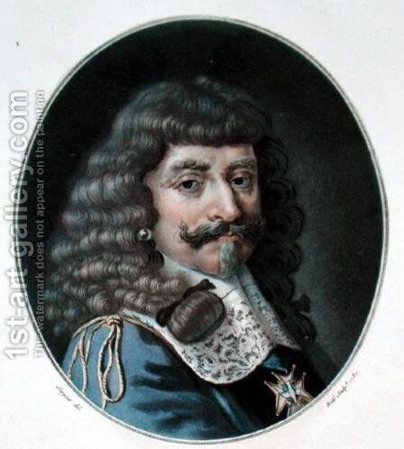 Henry of Lorraine, 1st Count of Harcourt 1601-66, engraved by Ride, 1787 by Antoine Louis Francois Sergent-Marceau - Reproduction Oil Painting