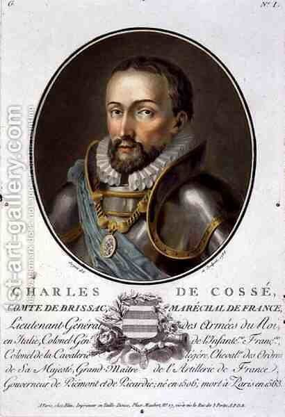 Portrait of Charles de Cosse, Count of Brissac, Fieldmarshal of France 1506-63, 1788 by Antoine Louis Francois Sergent-Marceau - Reproduction Oil Painting