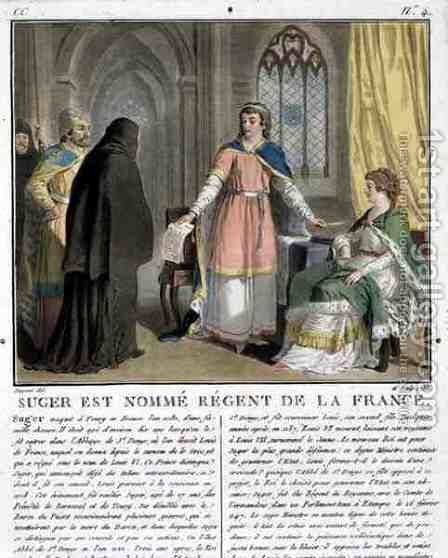 Abbot Suger 1082-1152 is Named as Regent of France, 1788 by Antoine Louis Francois Sergent-Marceau - Reproduction Oil Painting