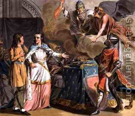 Under Philippe le Bel 1268-1312 the State of Tiers is Administered by the Estates-General, engraved by Jean Baptiste Morret fl. 1790-1820, 1789 by Antoine Louis Francois Sergent-Marceau - Reproduction Oil Painting