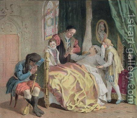 Jean V, Duke of Brittany 1389-1442, Charging Olivier Clisson with the Care of his Children, 1788 by Antoine Louis Francois Sergent-Marceau - Reproduction Oil Painting
