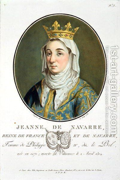 Portrait of Jeanne de Navarre 1271-1304, 1788 by Antoine Louis Francois Sergent-Marceau - Reproduction Oil Painting