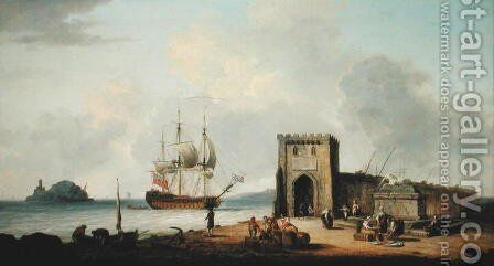 Mediterranean Port by Dominic Serres - Reproduction Oil Painting