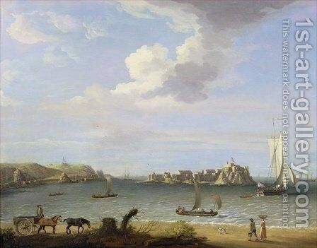 Elizabeth Castle, Jersey, 1764 by Dominic Serres - Reproduction Oil Painting