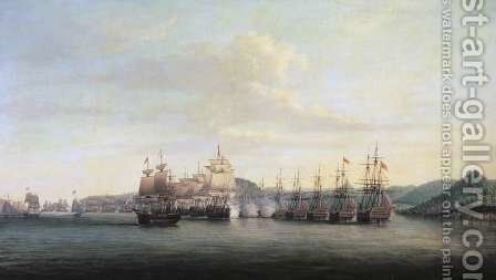 Barringtons Action at Santa Lucia, 1778 by Dominic Serres - Reproduction Oil Painting