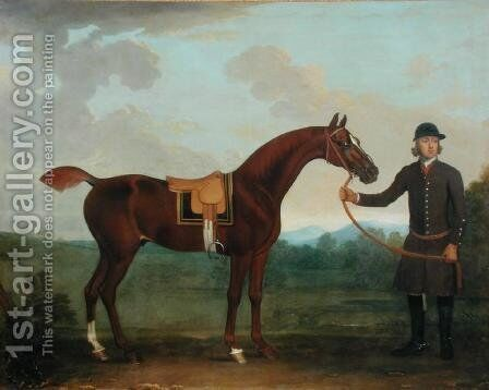 Old Fox held by a Groom by James Seymour - Reproduction Oil Painting