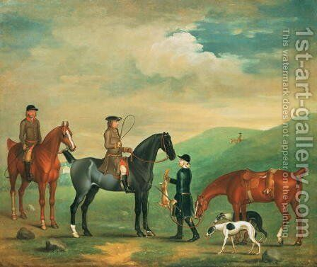 The 4th Lord Craven coursing at Ashdown Park by James Seymour - Reproduction Oil Painting
