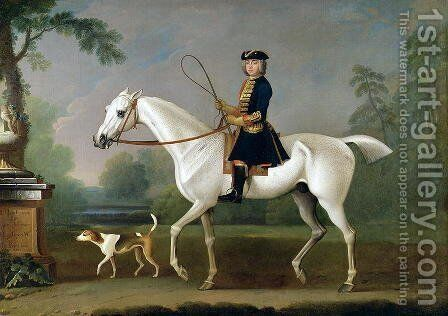 Sir Roger Burgoyne Riding Badger, 1740 by James Seymour - Reproduction Oil Painting