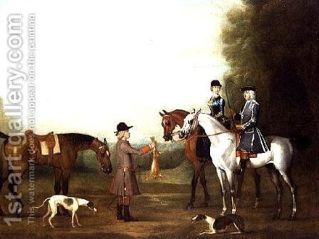 A Coursing Scene by James Seymour - Reproduction Oil Painting