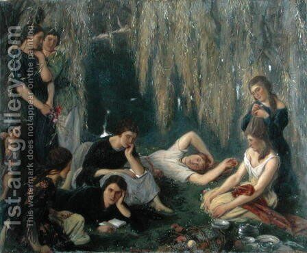 The Willow Pond, 1923 by Charles Haslewood Shannon - Reproduction Oil Painting