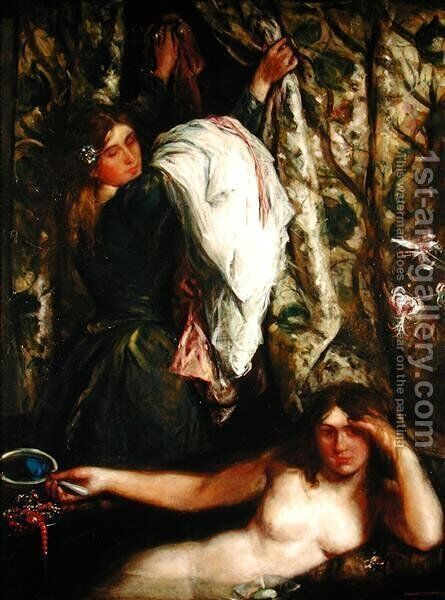 The Bath, 1908 by Charles Haslewood Shannon - Reproduction Oil Painting