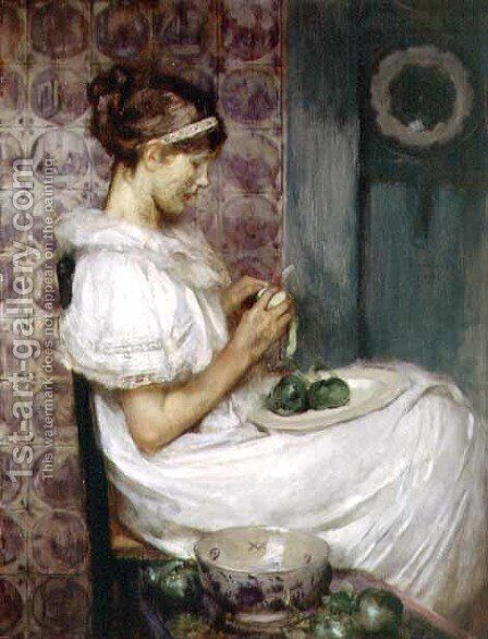 Forbidden Fruit by James Jebusa Shannon - Reproduction Oil Painting