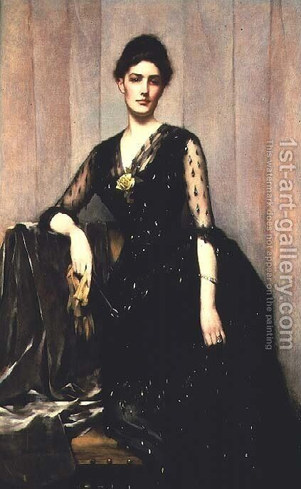 Portrait of Mrs. Agnes Williamson by James Jebusa Shannon - Reproduction Oil Painting