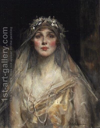 Portrait of a Bride by James Jebusa Shannon - Reproduction Oil Painting