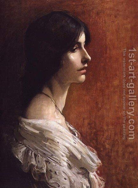 Portrait of a Young Lady, 1897 by James Jebusa Shannon - Reproduction Oil Painting