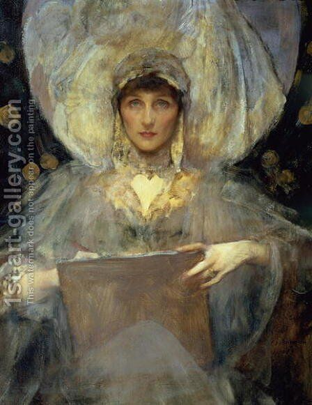 Violet, Duchess of Rutland 2 by James Jebusa Shannon - Reproduction Oil Painting