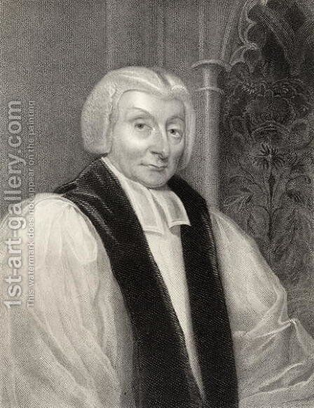 Henry Bathurst, Bishop of Norwich, engraved by T.A. Dean fl.1773-1840, from National Portrait Gallery, volume II, published c.1835 by Michael William Sharp - Reproduction Oil Painting