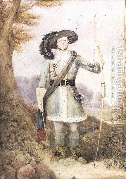 A New Forest Archer, 1849 by J.F. Sharpe - Reproduction Oil Painting