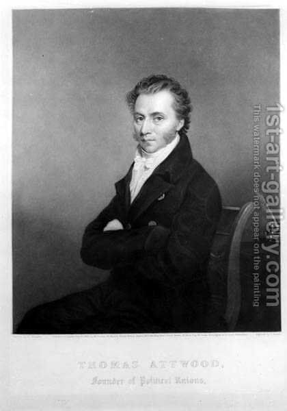 Thomas Attwood 1783-1856 engraved C. Turner, pub. in 1832 by (after) Sharples, George - Reproduction Oil Painting