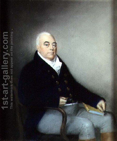 Portrait of an Elderly Seated Gentleman, c.1795 by James Sharples - Reproduction Oil Painting