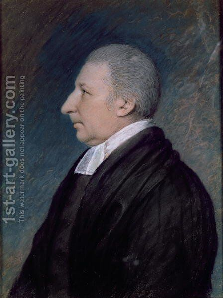 Rev. Rowland Hill, English Preacher, 1744-1833 by James Sharples - Reproduction Oil Painting
