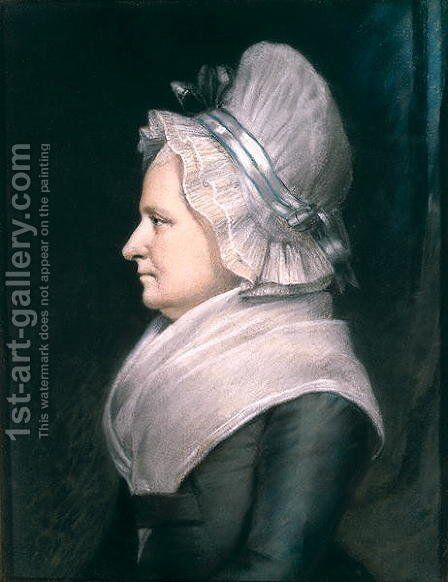 Mrs Martha Washington 1731-1802 1796 by James Sharples - Reproduction Oil Painting