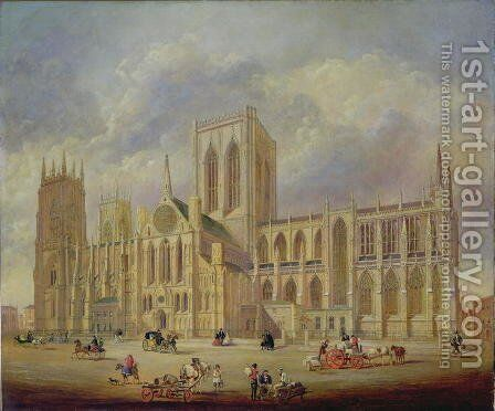 York Minster from the south by Henry Shaw - Reproduction Oil Painting
