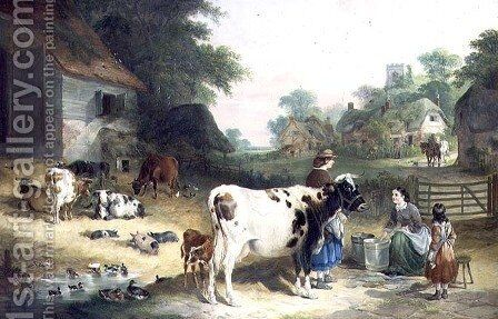 Country Gossip by Charles and Henry Shayer - Reproduction Oil Painting
