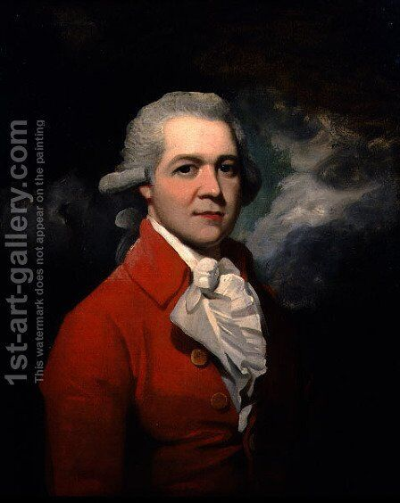 Portrait of Philip Harding Esq., c.1793 by Sir Martin Archer Shee - Reproduction Oil Painting