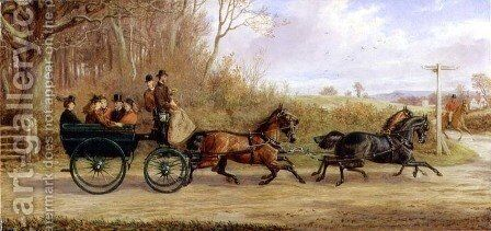 A Brake and Four going to a Meet, 1873 by Alfred Sheldon-Williams - Reproduction Oil Painting