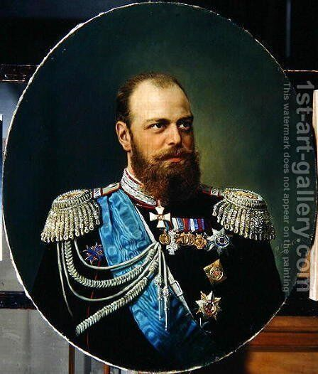 Emperor Alexander III 1845-94 by Andrey Nikolayevich Shilder - Reproduction Oil Painting