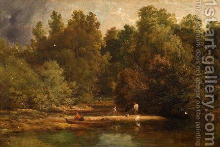 On the Trent by Benjamin Shipham - Reproduction Oil Painting