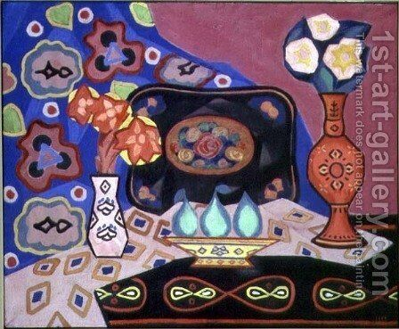 Still Life with Vases by Iosif Solomonovich Shkolnik - Reproduction Oil Painting