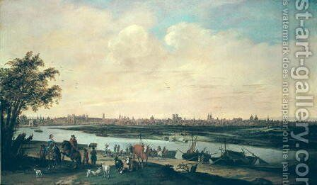 View of Paris by Jan Siberechts - Reproduction Oil Painting