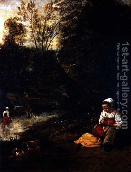 The Toilet by the Water by Jan Siberechts - Reproduction Oil Painting