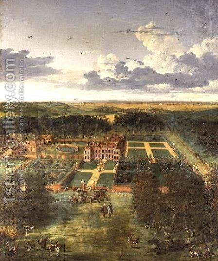 Cheveley Park, near Newmarket by Jan Siberechts - Reproduction Oil Painting