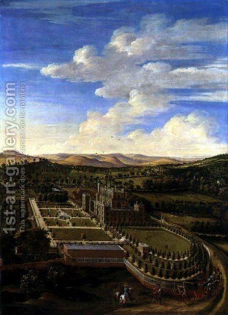 Wollaton Hall and Park, Nottingham, 1697 by Jan Siberechts - Reproduction Oil Painting