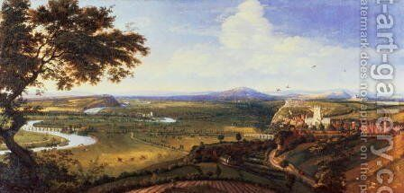 View of Nottingham from the East by Jan Siberechts - Reproduction Oil Painting