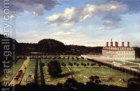 A View of Bayhall, Pembury, Kent, c.1675 by Jan Siberechts - Reproduction Oil Painting