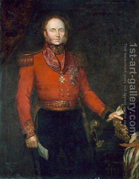 Major General John Alexander Dunlop Agnew Wallace c.1775-1857 1835 by Herbert Sidney - Reproduction Oil Painting