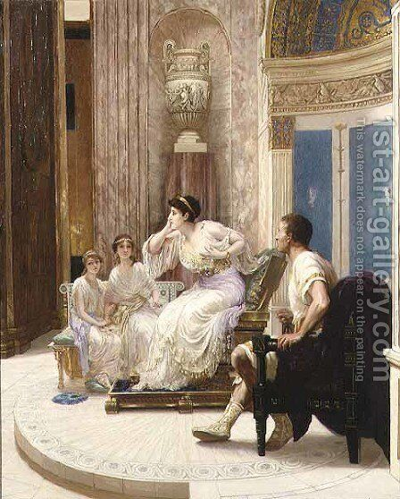 In a Roman Room by Herbert Sidney - Reproduction Oil Painting