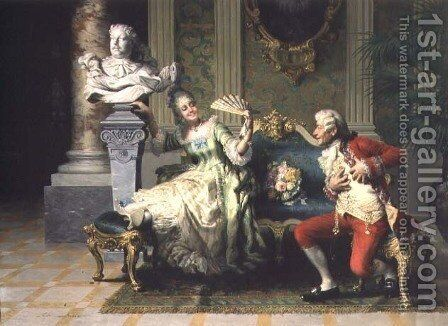 Declaration of Love by Carlo Sienesi - Reproduction Oil Painting
