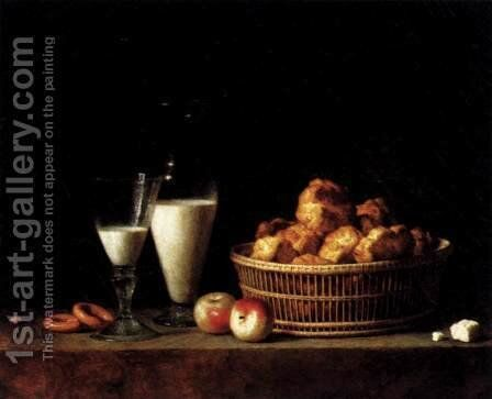 Still-Life with a Carafe of Barley Wine 1787 by Henri-Horace Roland Delaporte - Reproduction Oil Painting