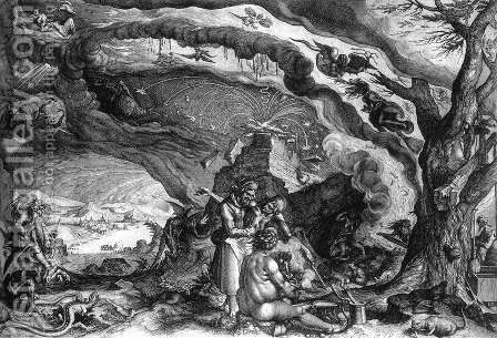 Witches Sabbath c. 1610 by Andries Jacobsz. Stock - Reproduction Oil Painting