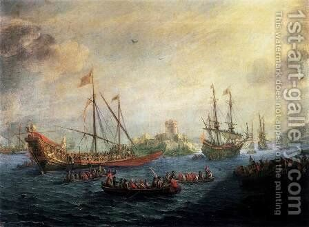 Seascape c. 1650 by Gaspard van Eyck - Reproduction Oil Painting