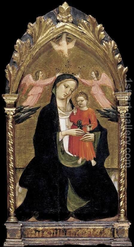 Madonna and Child with Two Angels by Dal Ponte Giovanni - Reproduction Oil Painting